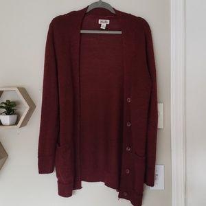 Burnt Red Button Sweater Cradigan XL